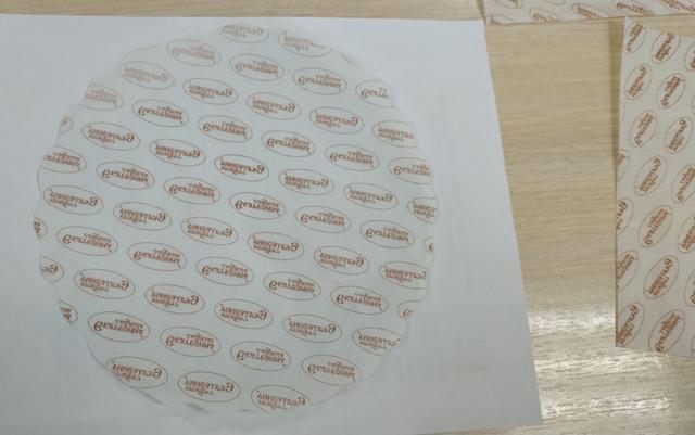 Изготовление плейсментов (бумага для подносов) на пергаментной бумаге